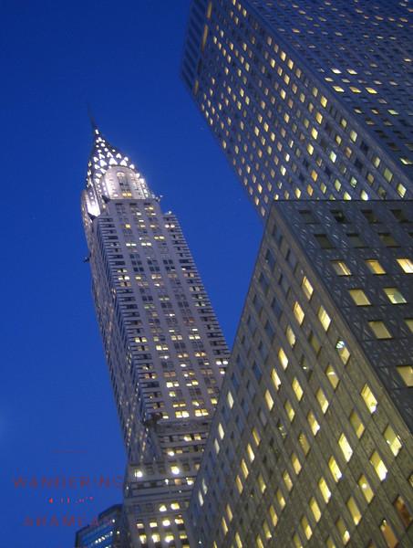 Chrysler Building at twilight