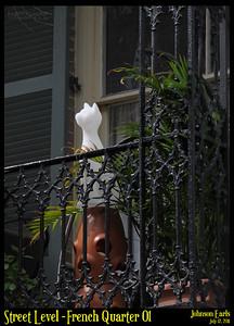 Street Level: French Quarter 01  Photos taken around the French Quarter of New Orleans.  New Orleans, 12 July 2011