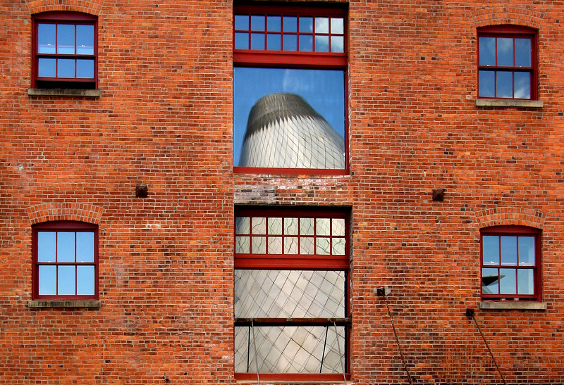 Brick, Glass and Steel Cone