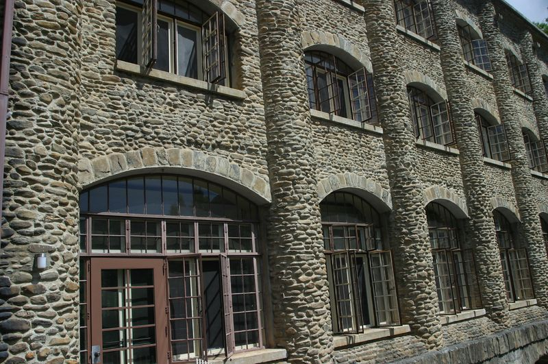 This is the main dorm building at Montreat College in Montreat, NC.  I particularly like the massive amounts of stone and repeating patterns.