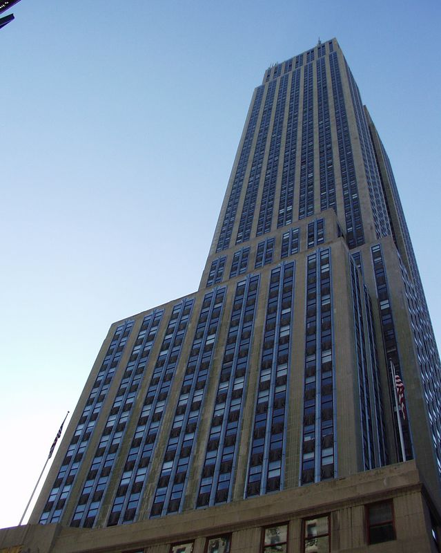 The Empire State Building in Manhattan.