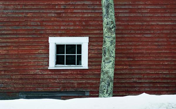 Barn Window in Winter