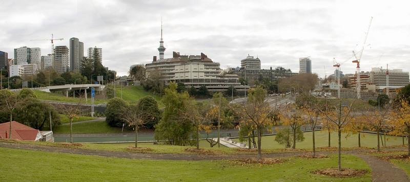 Auckland University from Grafton Auckland New Zealand - 11 June 2005