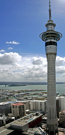 Sky Tower from the 29th floor of the ASB Centre Auckland New Zealand - Mar 2005