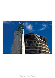 Cenotaph Wellington New Zealand - Aug