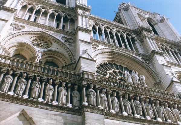 Fronton Notre Dame de Paris - Oct 1987