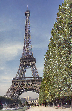 Tour Eiffel Paris France - Oct 1978