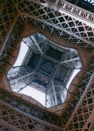 Tour Eiffel from the ground up Paris France - Jul 1996