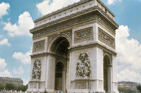 Arc de Triomphe Paris France - Oct 1978