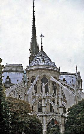 Flying buttresses Notre Dame de Paris France