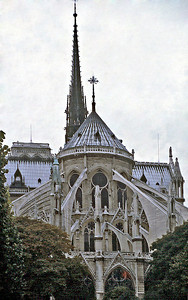 Flying buttresses Notre Dame de Paris France