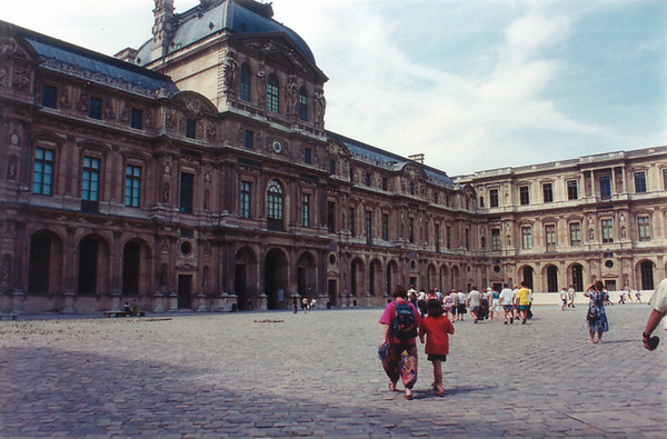 Courtyard Le Louvre Paris France - Jul 1996