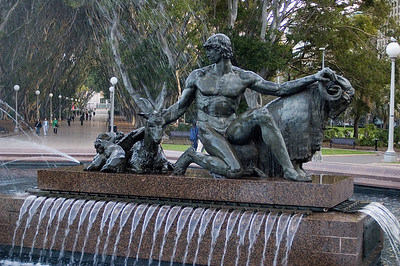 Jason and the golden fleece Archibald Memorial Fountain, Hyde park Sydney, NSW Australia - 20 Jun 2006