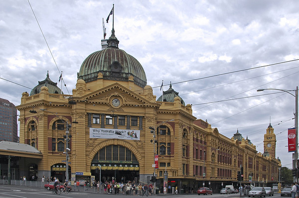 Flinders Train Station Melbourne - VIC Australia  - 18 Feb 2005