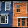 Colour contrast downtown St John's