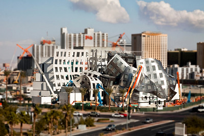 The Cleveland Clinic Lou Ruvo Center for Brain Health in Las Vegas, NV. Not a model, just photographed to look like one.