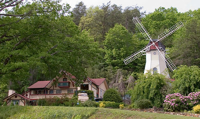 Windmill and Bavarian inn in Helen, GA