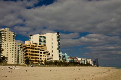 Hotels along Miami Beach, Florida
