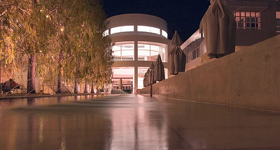 Los Angles, CA Getty Museum at night