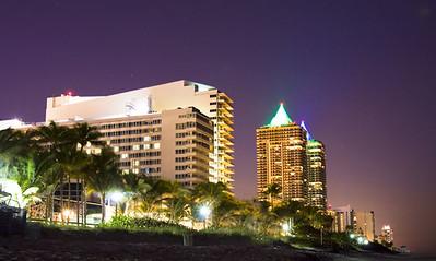 New hotels along Miami Beach, Florida