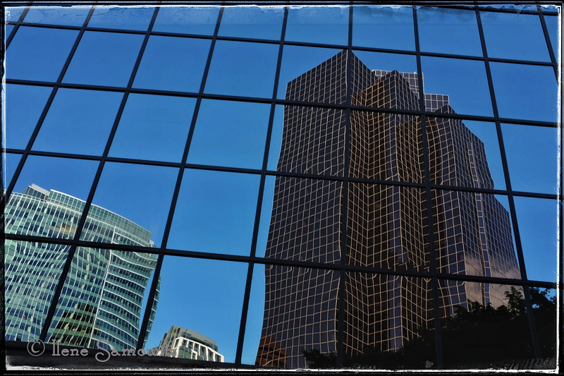 7-30-13 Bellevue Skyscraper Reflections with the Fuji X100s