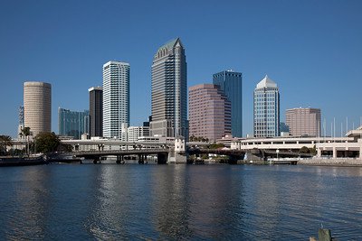 Tampa skyline on  the Hillsbough River