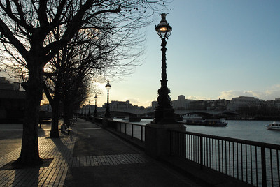 South bank, London, winter 2008