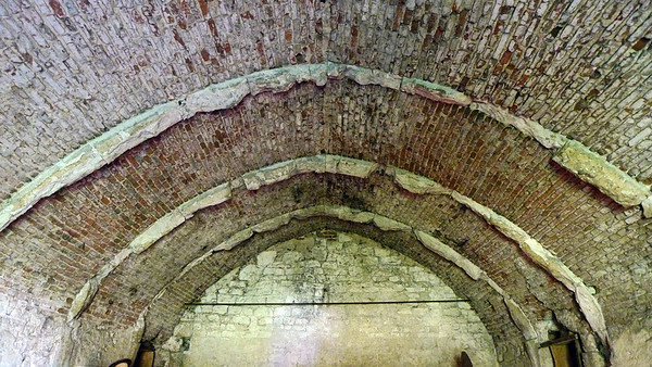 Barrel vault, Woking palace.
