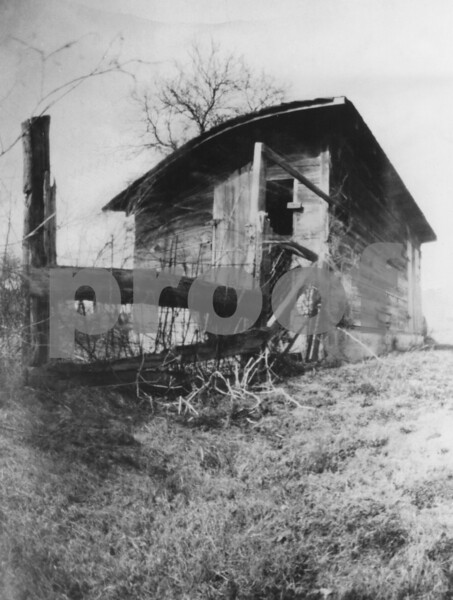 The old hog shed. (Shot with a pinhole camera made from a saltine cracker box.)
