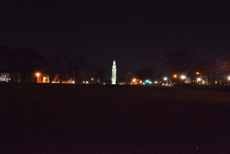 Bell Tower at Midnight, Phillips Academy, Andover, MA