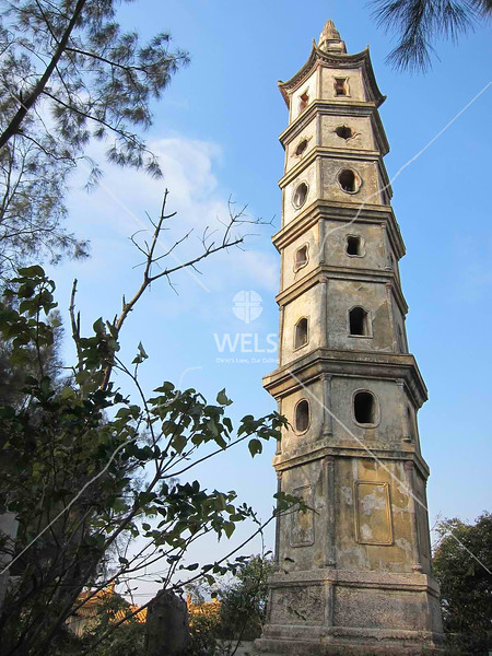 Pagoda watchtower in Songmen Village, SE China by kstellick
