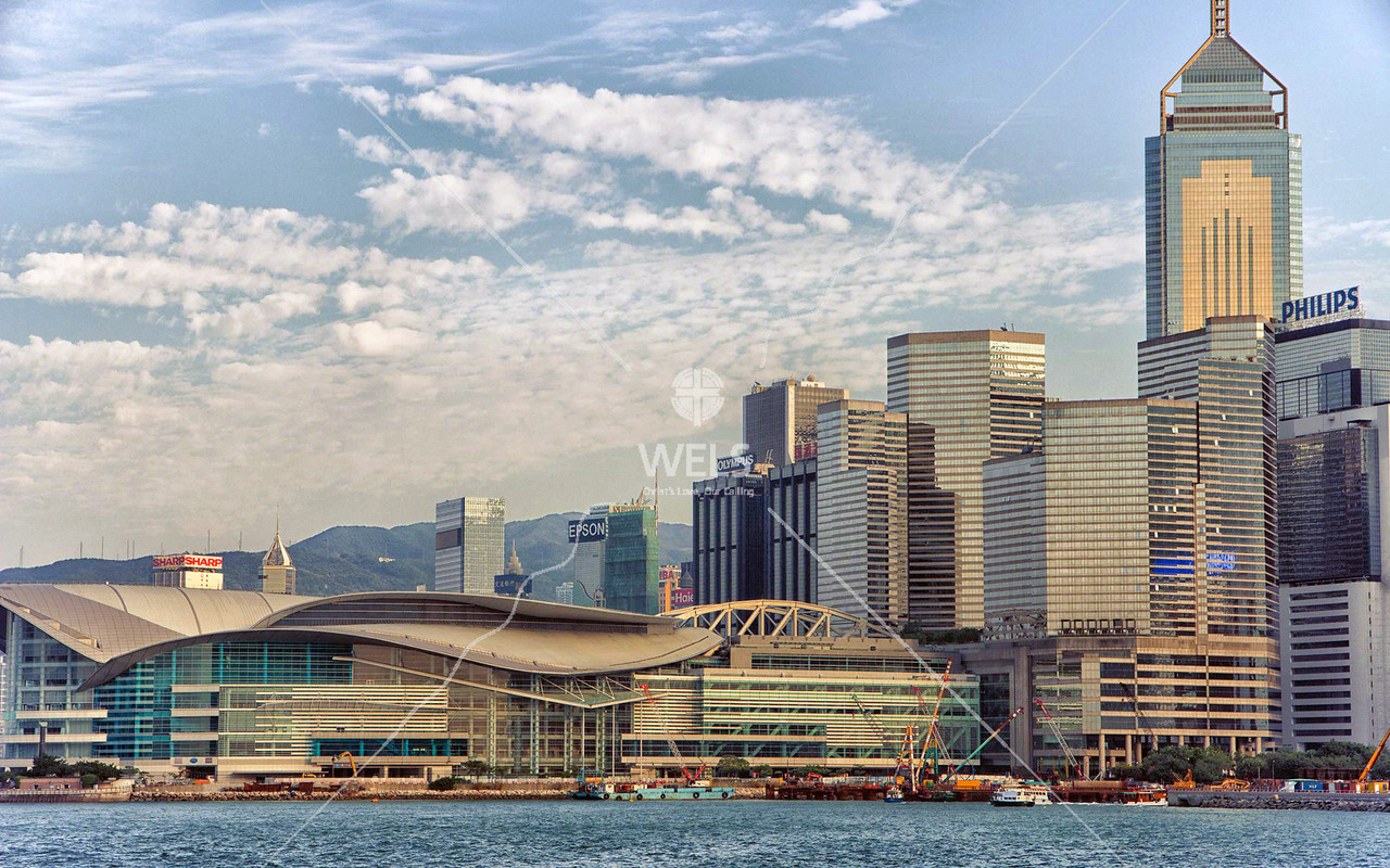 Hong Kong Island and Convention and Exhibition Centre (site of Turnover Ceremony) by mspriggs