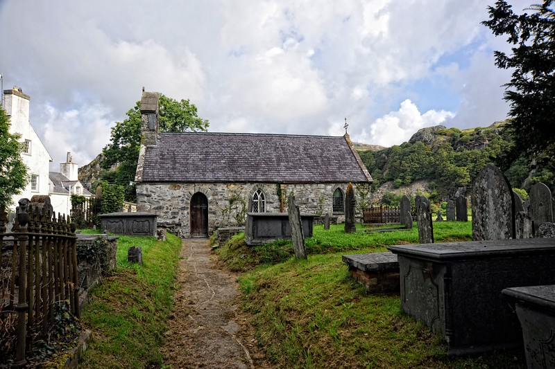 Church at Dolbenmaen, Snowdonia, Wales.