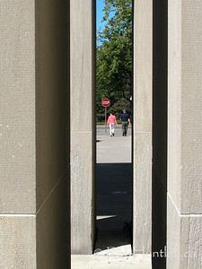 Stock - Gap through pillars on Lyon Street in Ottawa, Ontario.  © Rob Huntley