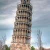 Leaning Tower of Niles, Illinois. HDR image.<br /> This is a 1/2 size copy of the original tower in Pisa, Italy