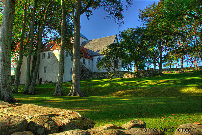 """Utstein Monastery <a href=""""http://www.stavangertravel.com/trip/utstein-kloster.cfm"""" target=""""_blank""""><span class=""""aligncenter"""">Utstein Monastery</span></a> is the only medieval remains of its kind in Norway, located on Klosterøy (or Abbey island) close to Stavanger. Built in 1260 on the site of an earlier          """"Royal Farm"""". It was home to Augustine monks until the Reformation,          when it fell into disrepair. Owned by the state since 1700, it was a home          and farmhouse until restoration began. Today it is popular for concerts,          weddings, meetings and as a museum. it has history in abundance. HDR from 5 exposures."""