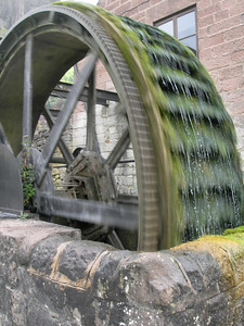 Waterwheel above Cromford Mills, Derbyshire