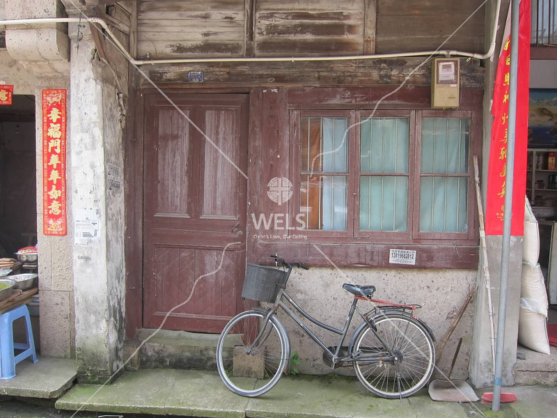 Bicycles are still major means of transportation in China. This is in Zhejiang Province, China by kstellick