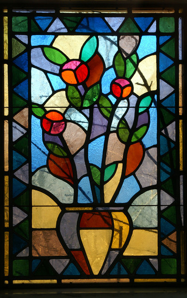 Stained Glass in Chapel<br /> Lakeview Cemetary<br /> Cleveland, OH