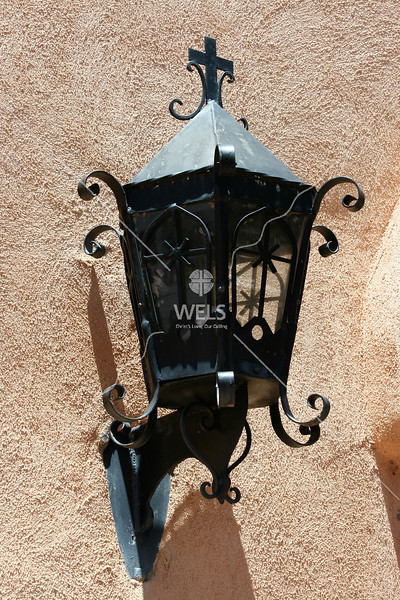 Lantern on adobe by mspriggs