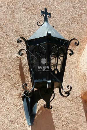 Lantern on adobe by mspriggs