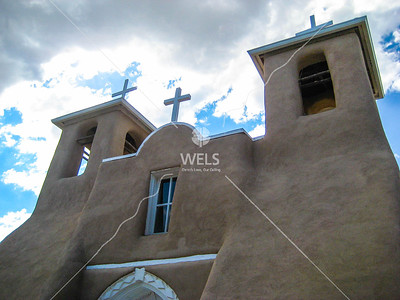 Old Adobe Mission Church by mspriggs  Photography by Martin Spriggs is licensed under a Creative Commons Attribution 3.0 Unported.