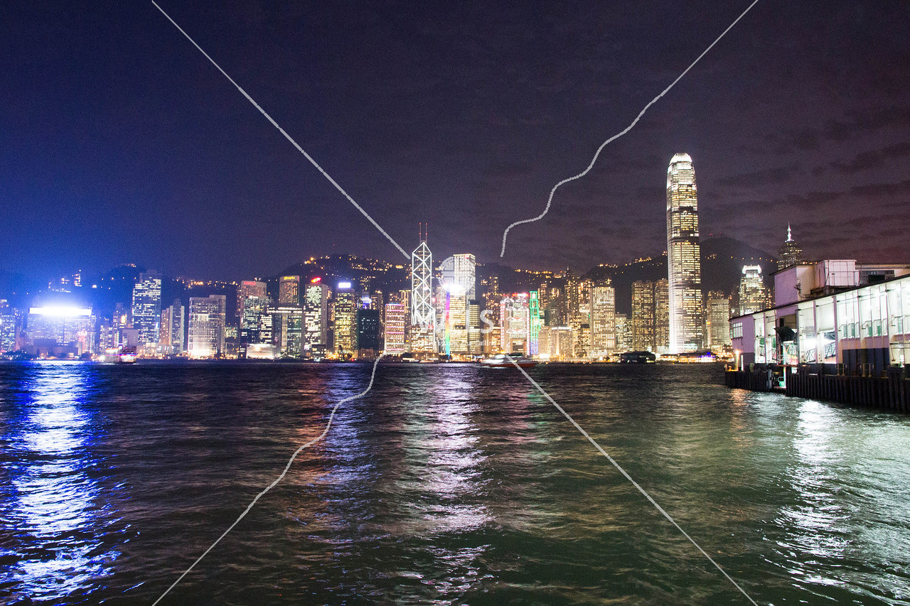 Port Skyline in Asia by mspriggs