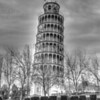 Leaning Tower of Niles, Illinois. B&W version of HDR image.