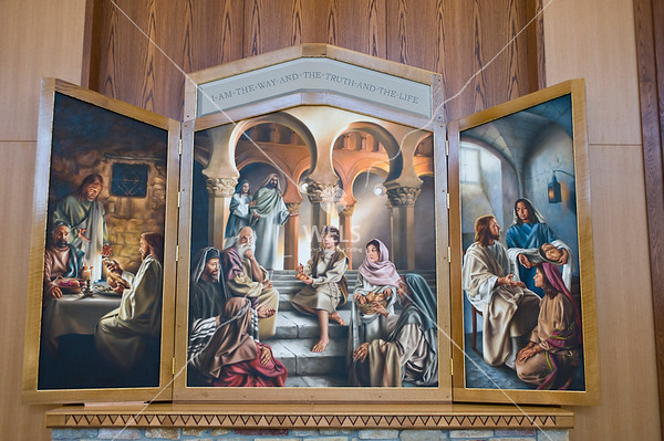 Martin Luther College Chapel Altar Triptych by wpekrul