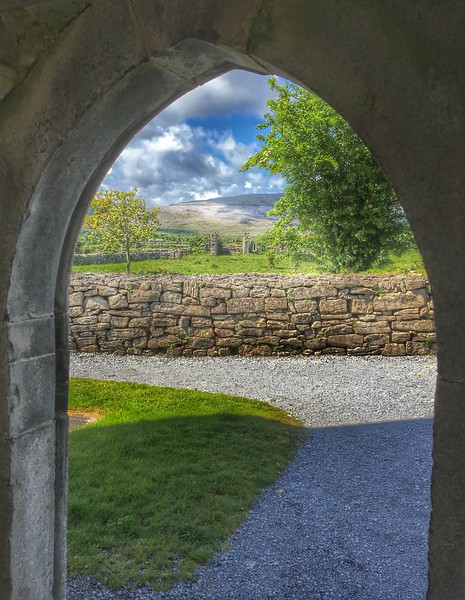 Corcomroe Abbey, The Burren, County Clare, Ireland.
