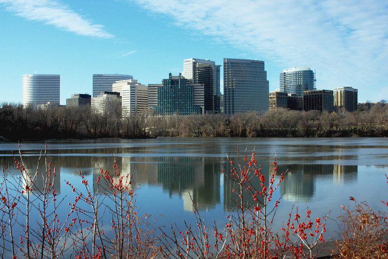 Arlington, Virginia Skyline in Mid-Morning