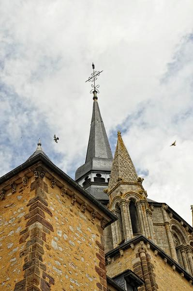 Church at Fresnay-sur-Sarthe, France.