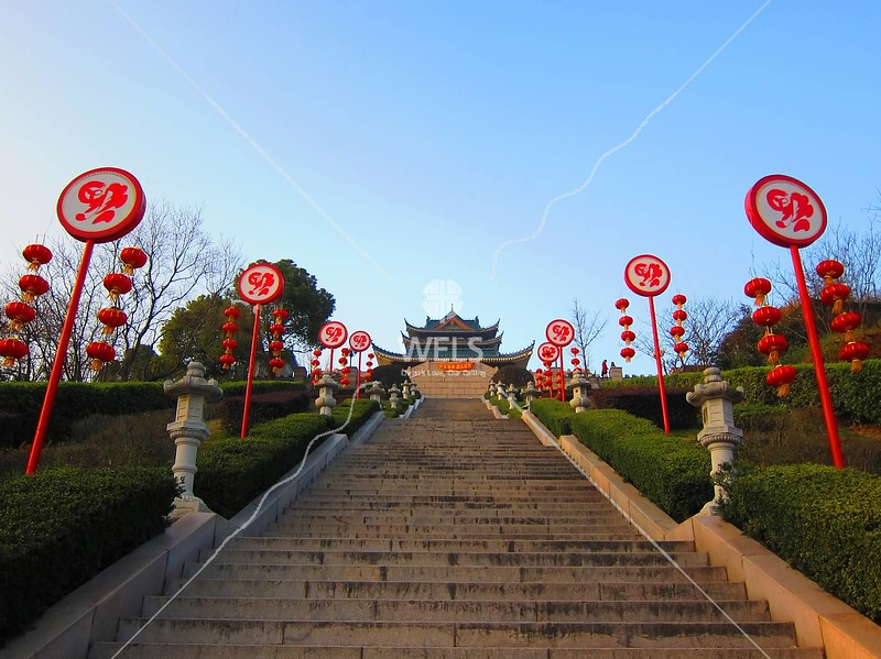 DongHuiLo with Chinese New Year decorations, Wenling, Zhejiang Province, China by kstellick