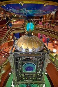 Clock tower on the Holland America Amstredam